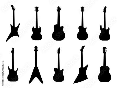 Fototapeta Guitar silhouettes