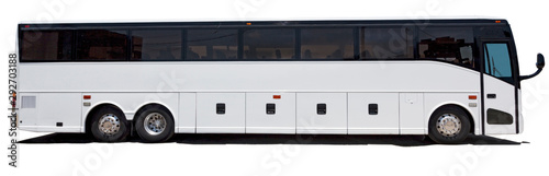 Murais de parede Isolated white charter sightseeing bus.
