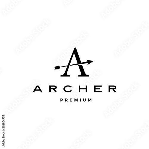 Canvas Print A letter archer arrow logo vector icon illustration