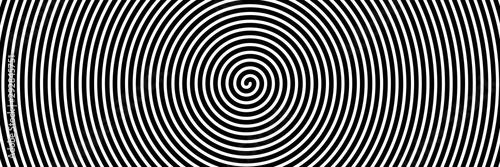 Canvas Print Black spiral on white banner 03