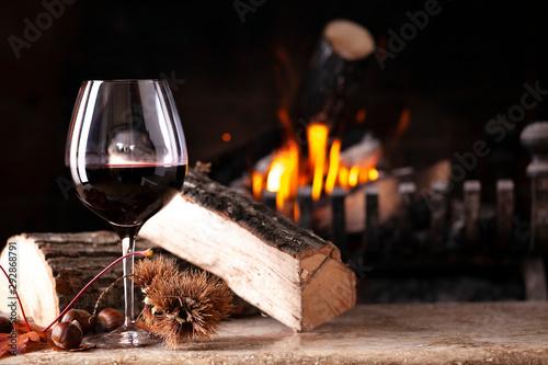 Fotografia bicchiere di vino