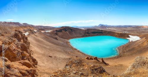 Splendid view of famous crater Viti at Krafla geothermal area Fototapet