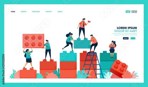 Fotografia Vector design of game, lego, business chart