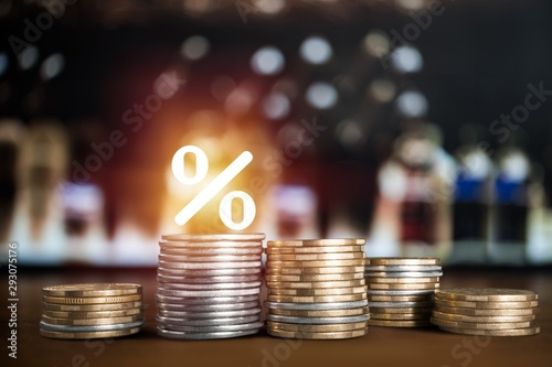 Fotografia Interest rate up fed chart mortgage business