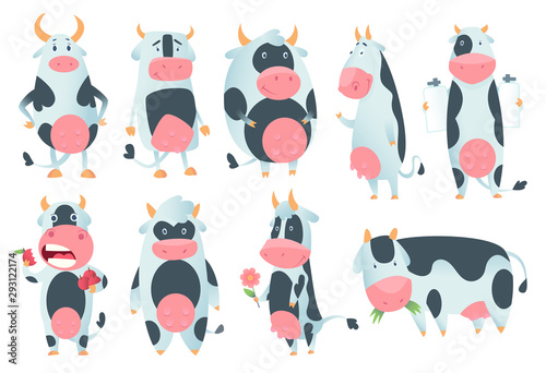 Leinwand Poster Cow cartoon
