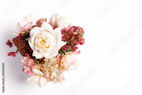 Fotografija Autumn bouquet of flowers in red, burgundy colors