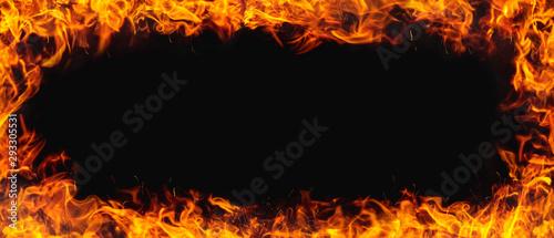 Obraz na plátně fire texture with black background