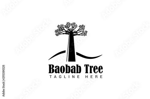 baobab tree logo Fototapeta