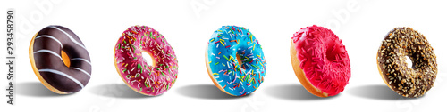 Платно Donut on a white isolated background