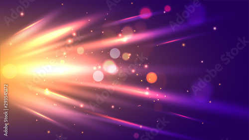 Fotografering Dynamic abstract background with shiny emerging rays illustration