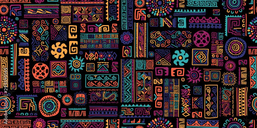 Etniczne ręcznie robiony ornament, wzór <span>plik: #293595165   autor: Kudryashka</span>