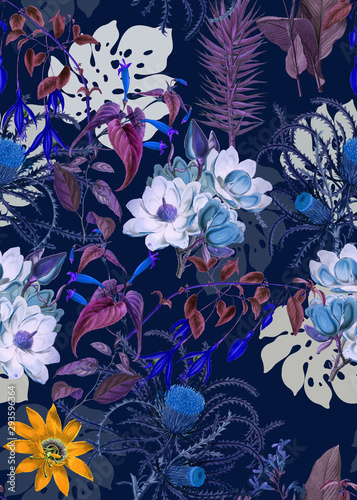 Carta da parati Flowers pattern