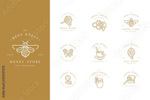 Carta da parati Vector set illustartion logos and design templates or badges