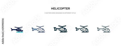 Fotografie, Obraz helicopter icon in different style vector illustration