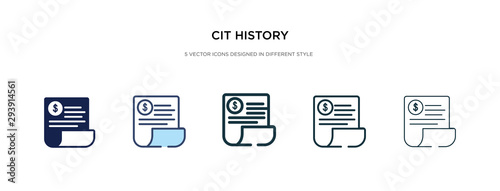 Fotografie, Obraz cit history icon in different style vector illustration