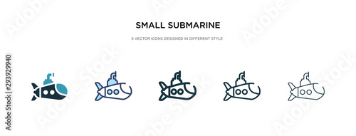 Photo small submarine icon in different style vector illustration