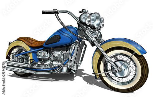 Carta da parati Classic vintage motorcycle.