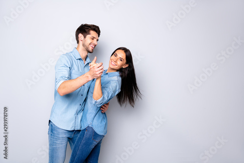 Photo Profile side view portrait of his he her she nice attractive charming lovely ado