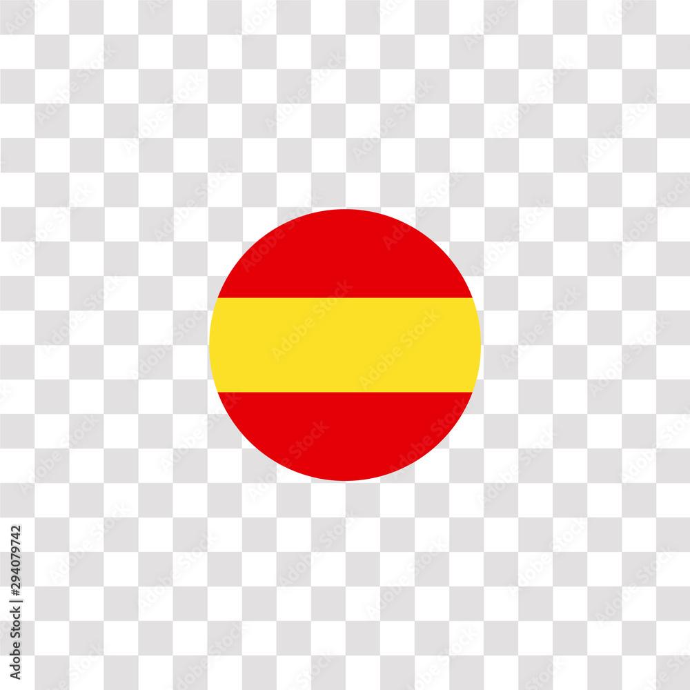 Hiszpania ikona znak i symbol. ikona kolor hiszpania do projektowania stron internetowych i tworzenia aplikacji mobilnych. Prosty element z kolekcji flag kraju na białym tle na czarnym tle. <span>plik: #294079742   autor: Color Guru</span>