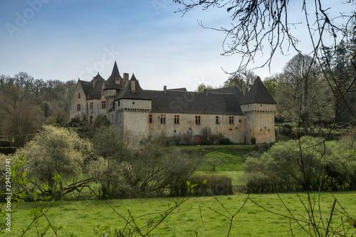 Fotografie, Tablou Château de la Grande Filolie à Saint Amand de Coly , en Dordogne
