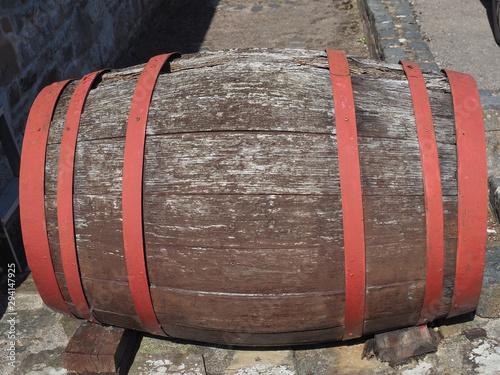 wooden barrel cask Fototapete