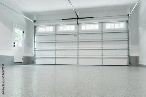 Valokuvatapetti Inside view of a garage
