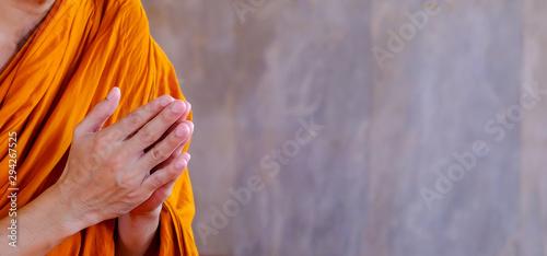 Valokuva background of pray of monk