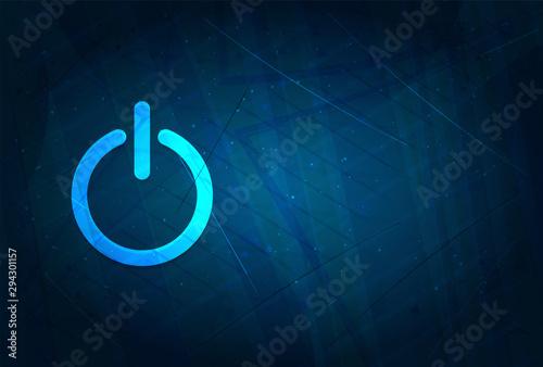 Tela Power icon futuristic digital abstract blue background