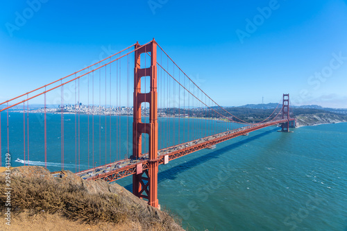 Wallpaper Mural View of the famous Golden Gate Bridge, San Francisco.