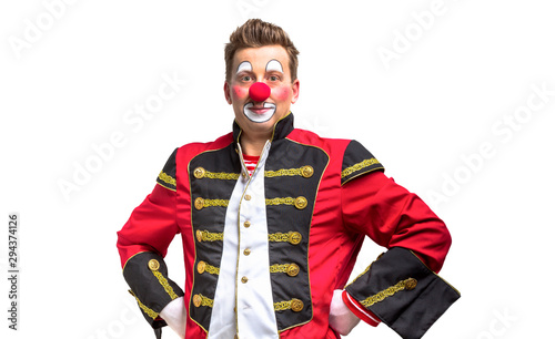 Photo A funny clown with smiling joyful expression
