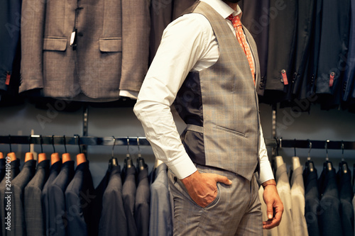Photo Midsection view of businessman in suit