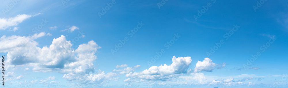 Panoramic fluffy cloud in the blue sky