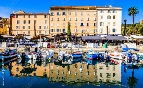 Tablou Canvas old town and harbor of ajaccio on corsica