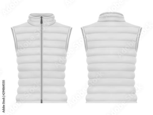 Slika na platnu Front and back of vest jacket or sleeveless puffer