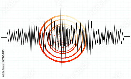 Foto earthquake background