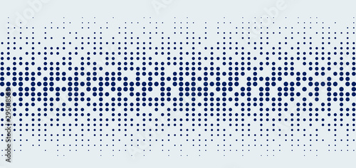 Abstract technology futuristic style big data blue geometric circle pattern on white background and texture.