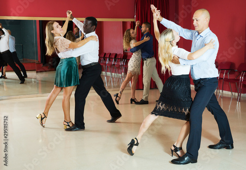 Wallpaper Mural People dancing slow ballroom dances in pairs