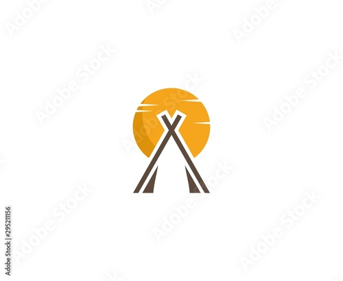 Obraz na plátne Camp logo