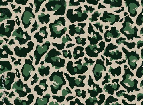 Carta da parati Seamless leopard all over repeat pattern