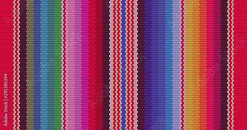 Fototapeta Blanket stripes seamless vector pattern