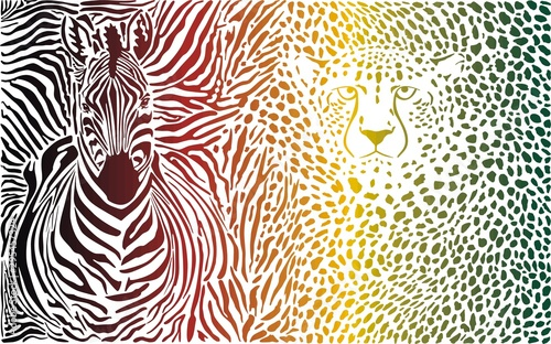 Wallpaper Mural abstract, animal, background, crocodile, decor, decoration fur backdrop, design,