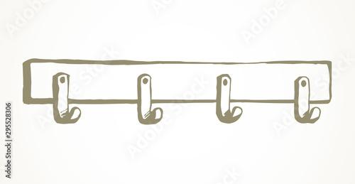 Wall hook. Vector drawing Fototapeta