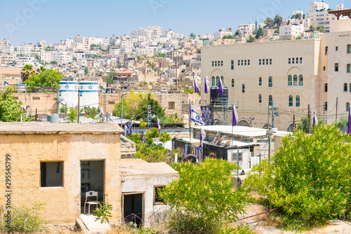 Fotografia View of Hebron a Palestinian city in the southern West Bank, south of Jerusalem