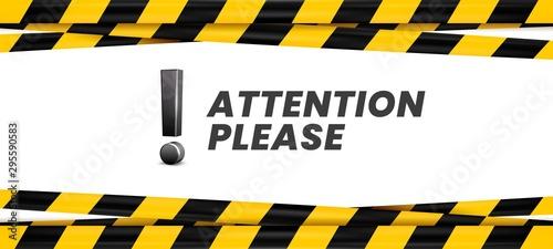 Obraz na plátně Attention please banner