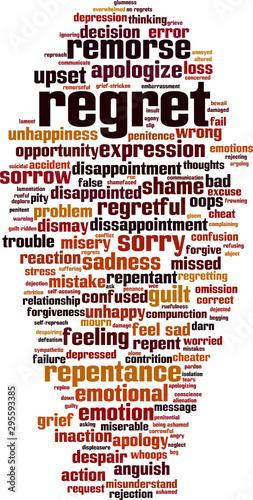 Valokuva Regret word cloud