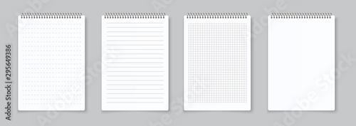 Fotografie, Obraz Realistic notebooks sheets
