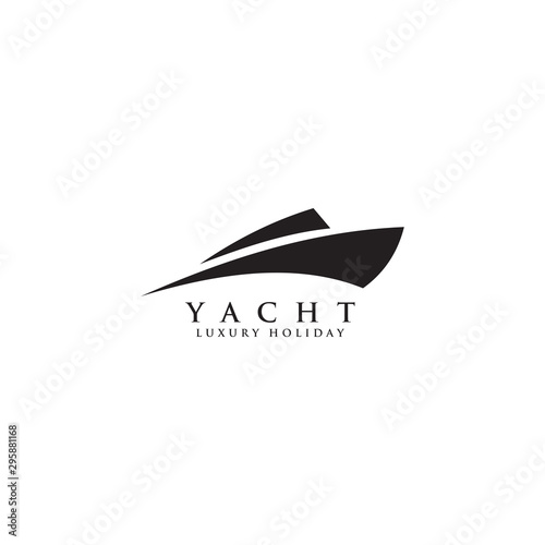 Stampa su Tela Yacht logo design vector template