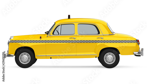 Vintage Taxi Isolated