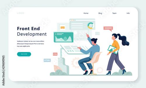 Fotografie, Obraz Frontend development web banner concept. Website interface