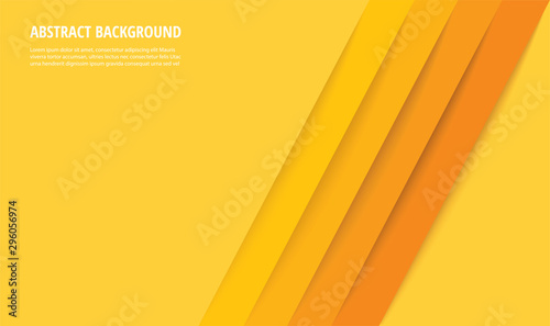 Fotografie, Tablou abstract modern yellow lines background vector illustration EPS10